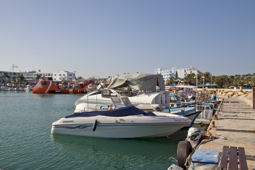 Zypern Agia Napa Boote im Hafen