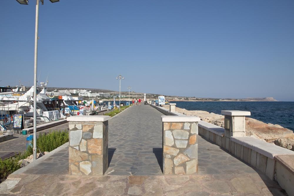Zypern Agia Napa Zugang zur Strandpromenade