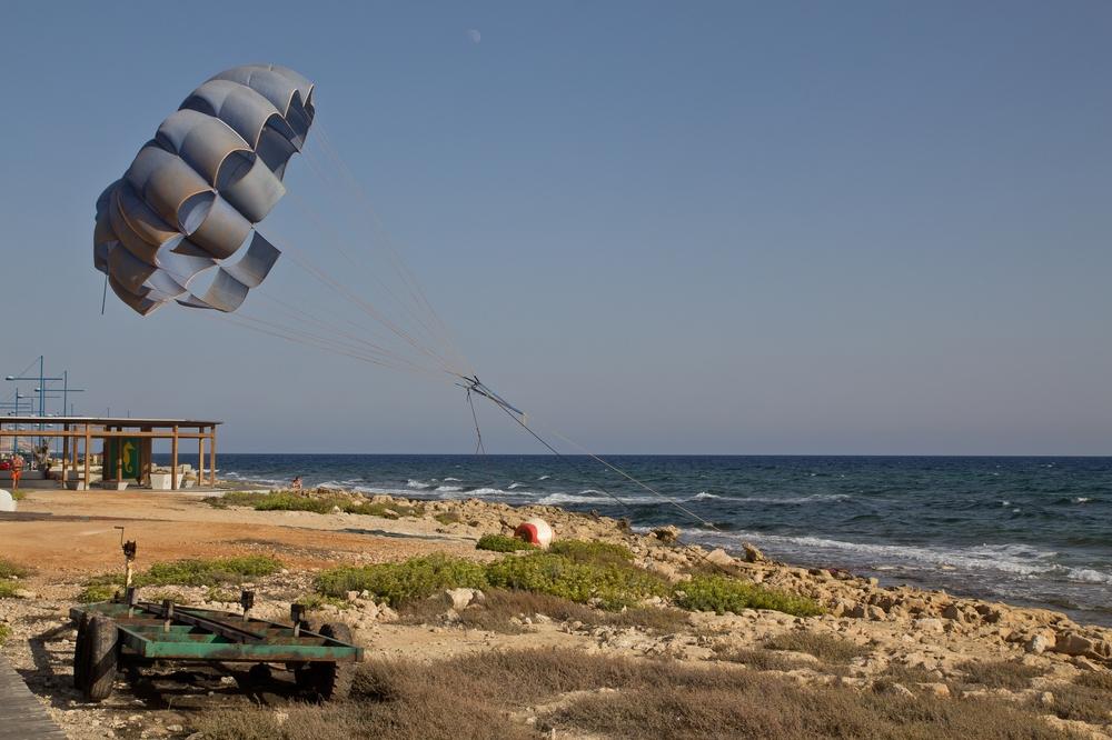 Zypern Agia Napa Fallschirm Ballon Boot